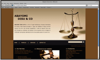 <strong>Abayomi Disu &amp; Co</strong> is a firm of Legal Practitioners, Company Secretaries and Notary Public based principally in Lagos with affiliates in Abuja, and Port Harcourt. We provided <strong>Web Design, SEO & Web Marketing</strong>.